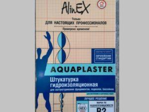 """Штукатурка гидроизоляционная """"Alinex Aquaplaster"""""""