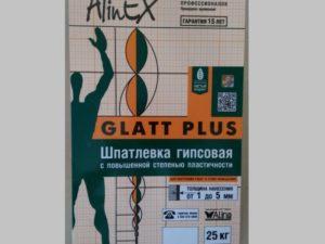 Шпаклёвка гипсовая Alinex Glatt plus 25 кг