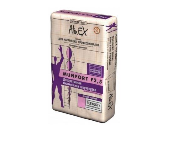Декоративная штукатурка AlinEX MUNFORT F 2,5