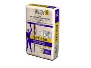 Клей кафельный, цементный, Set 300, Alinex 25 кг