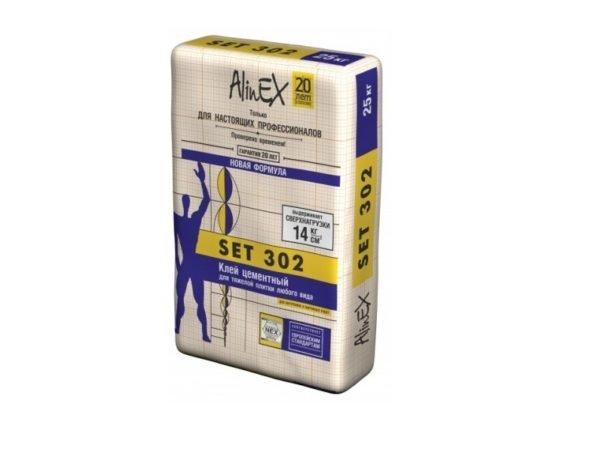 Клей цементный, Alinex Set 302