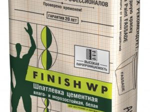 Шпатлевка цементная Finsh WP (25кг)