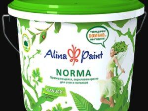 """Краска ВД Alina Paint """"NORMA"""" (морозостойкая, 25кг), вед"""